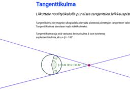 Tangenttikulma