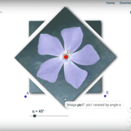 Simetría rotacional con imágenes