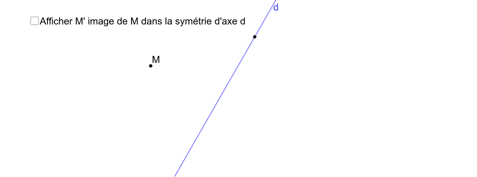 Image d'un point par une symétrie axiale