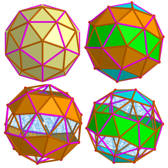 Biscribed Pentakis Dodecahedron and its elements