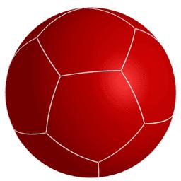 Las cinco divisiones regulares de la esfera