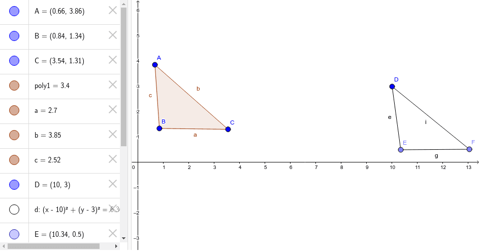 Constructing Congruent Segments with GeoGebra Press Enter to start activity