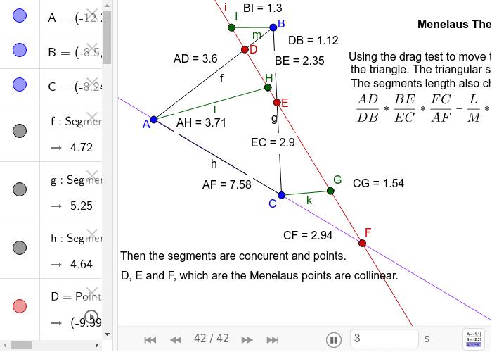 Menelaus Theorem