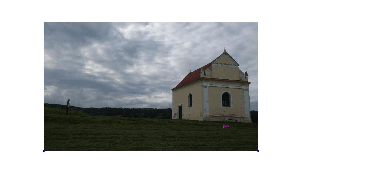 Jaká je vzdálenost mezi pozorovatelkou a kapličkou?