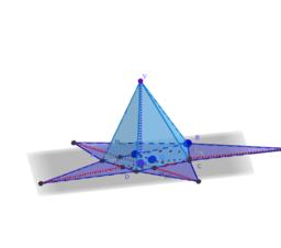 Piramide che ha per base un trapezio rettangolo circoscritto