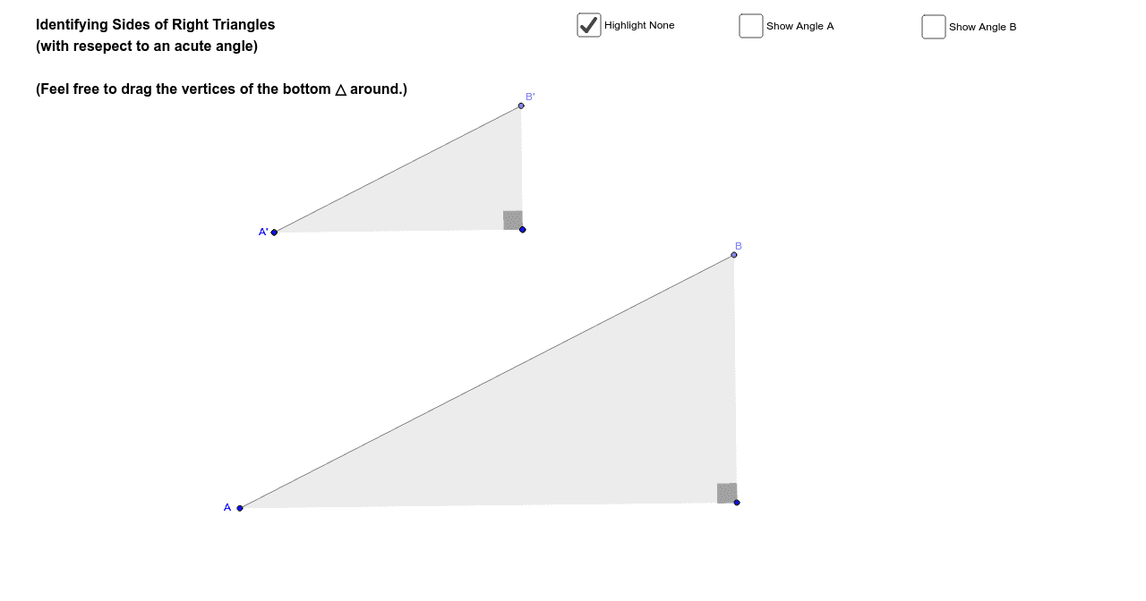 Identifying Sides Of Right Triangles Geogebra
