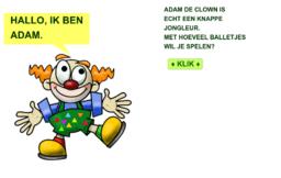 Adam, de jongleur (cijfers tot 9)