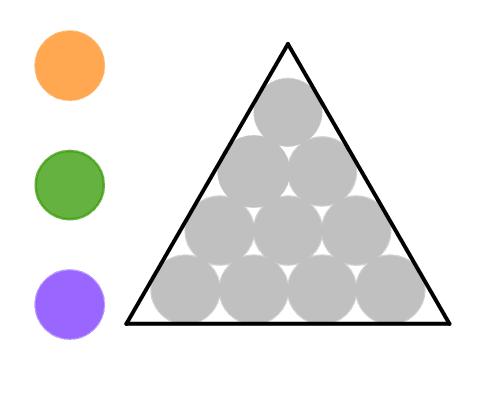 Klicke auf die grauen Kreise, um ihre Farben zu ändern.  Drücke die Eingabetaste um die Aktivität zu starten