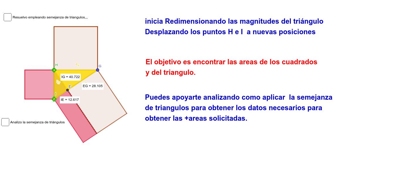 Áreas,teoremas de Euclides