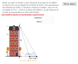 Cálculo de la altura de objetos inaccesibles