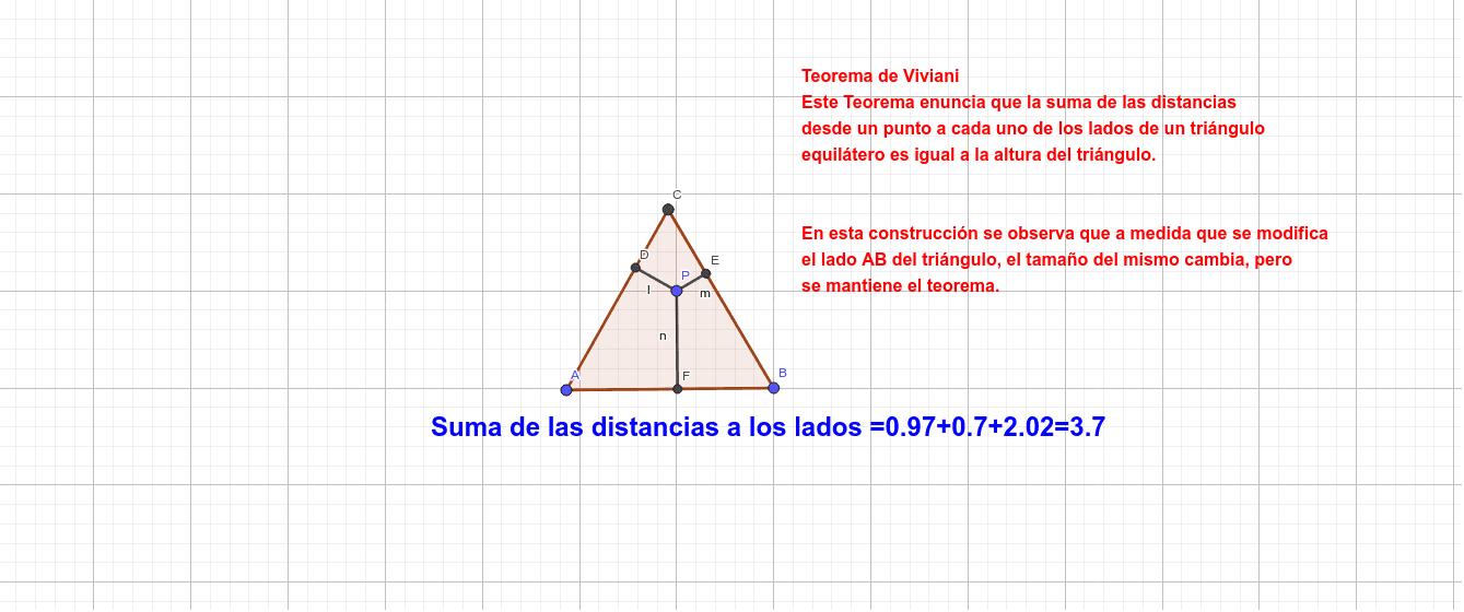 Teorema de Viviani Presiona Intro para comenzar la actividad