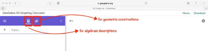 [size=85][size=100][i][color=#0000ff]note[/color][/i]: for those who are not familiar with proper GeoGebra algebraic syntax, we recommend starting from some examples available in [url=https://www.geogebra.org/m/pkfzccjw#chapter/314408]Samples[/url]. [/size][/size]
