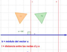 Composición simetrías axiales de ejes paralelos