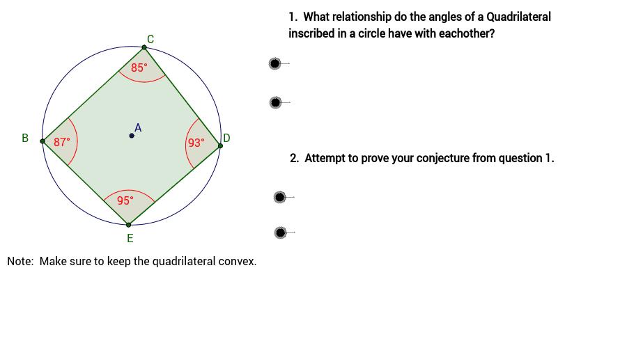 Circle with inscribed quadrilateral geogebra geogebra applet ccuart Gallery