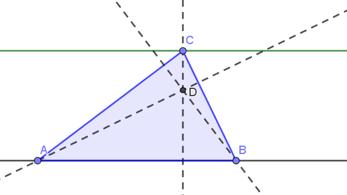 [justify][i]ACTIVIDAD 4: EXPLORACIONES TRIANGULARES DE LA ALTURA DE UN TRIÁNGULO[/i][/justify]  Halle el punto de intersección de las alturas de un triángulo.
