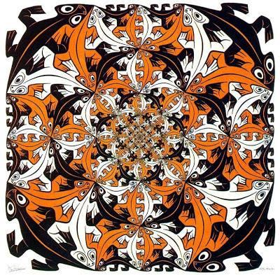 Figura com répteis de Escher