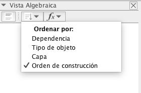 Para ordenar los objetos que se han ido creando por orden de construcción clicad en donde dice la imagen.