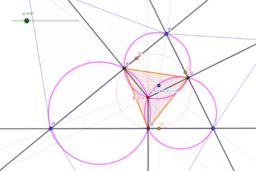 等力点の垂足三角形を回転させる