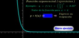 Función exponencial base 1/4 ( ejercicios )