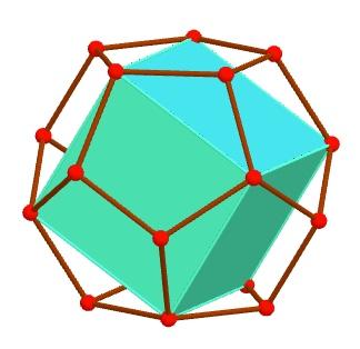 Cubo inscrito en dodecaedro.