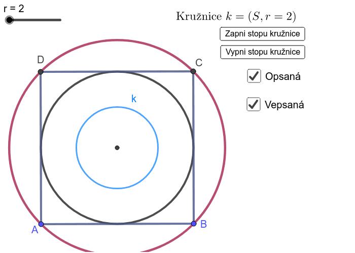 Úloha 1: Kružnice soustředné se čtvercem - Ehrensteinova iluze