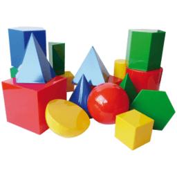Áreas y Volúmnes de los poliedros y cuerpos de revolución