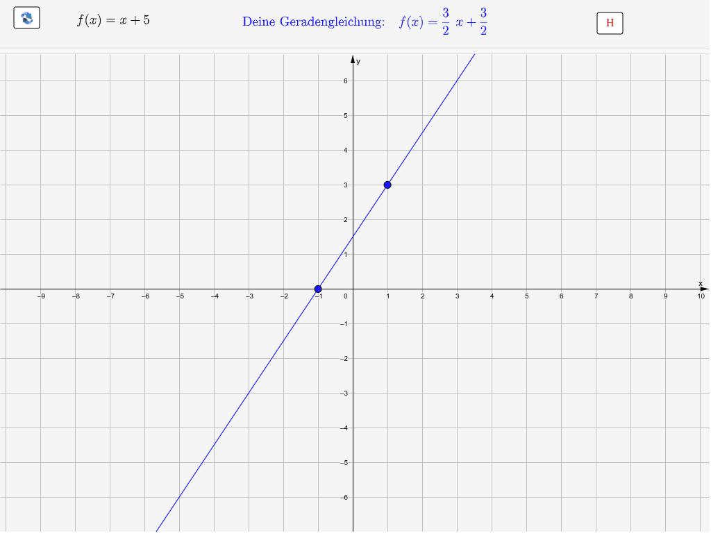 Bewege die blauen Punkte. [Du kannst dir auch Hilfestellung (H) geben lassen.] Drücke die Eingabetaste um die Aktivität zu starten