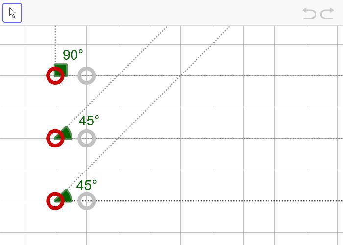 문제11. 세 내각의 크기가 45º, 45º, 90º인 삼각형(AAA) 활동을 시작하려면 엔터키를 누르세요.