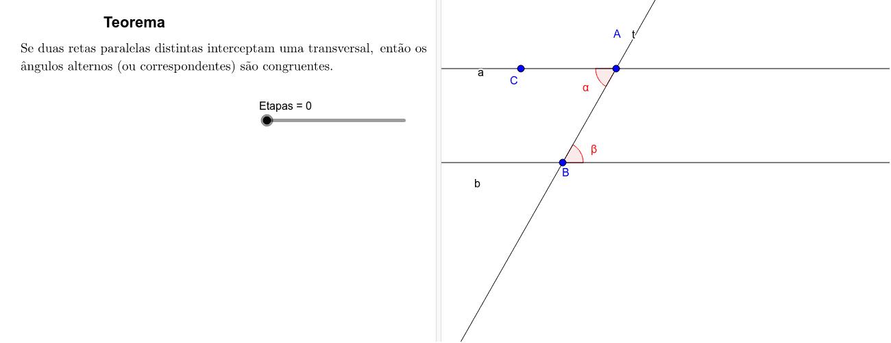 Recíproca do teorema anterior Press Enter to start activity