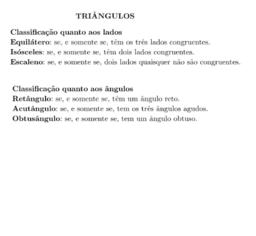 Triângulos- Classificação
