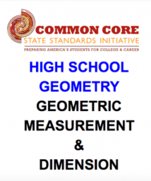 CCSS High School: Geometry (Geometric M. & Dimension) SAttar