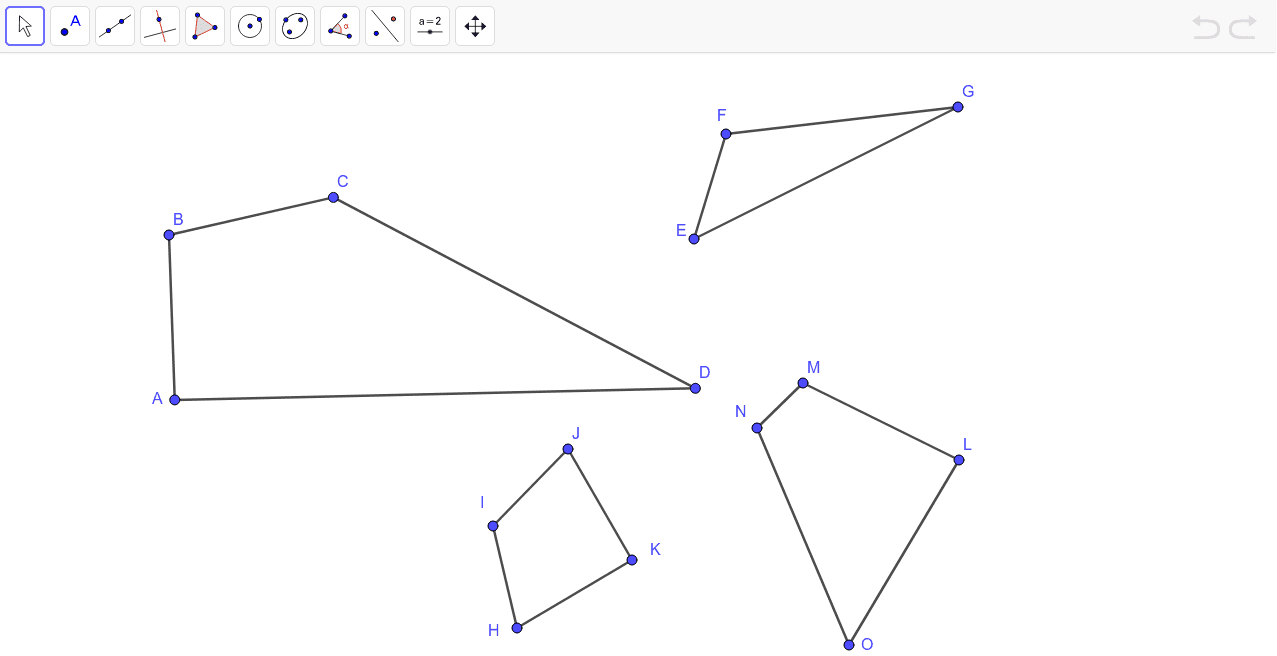 Explore which polygon is cyclic and which one(s) is circumscribable Press Enter to start activity