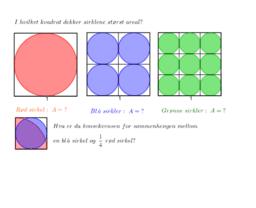 I hvilket kvadrat dekker sirklene størst areal?