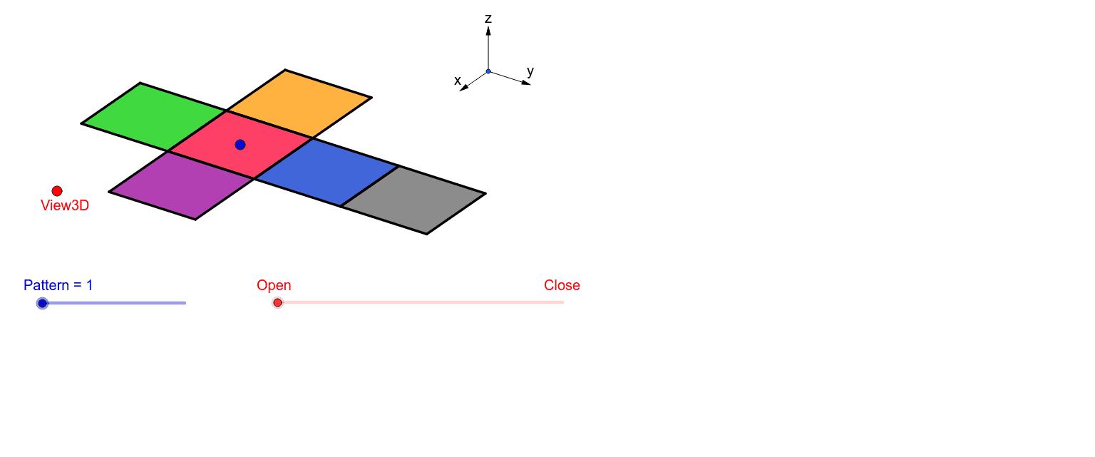 Kvadrater som fogas samman blir en kub. Press Enter to start activity