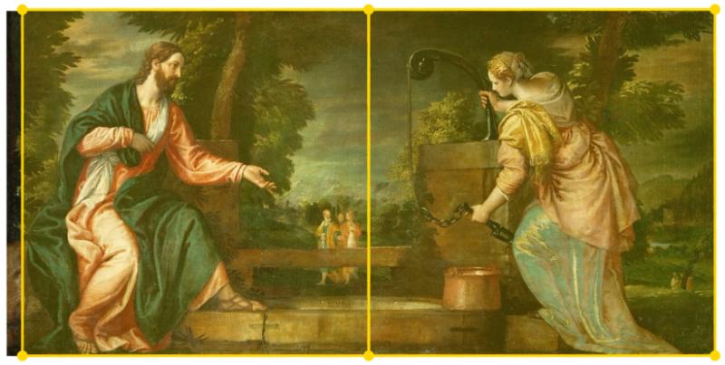 Rekonstrukcija dubla na temelju reprodukcije Veroneseove slike preuzete s interneta
