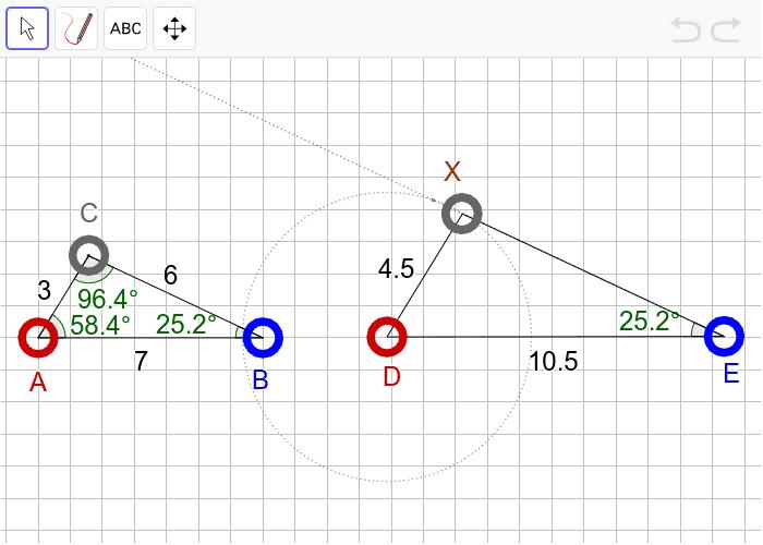 """(생각해보기1) 다음 두 삼각형이 """"확대 또는 축소하여 합동(닮음)""""인지 판단하고, 그 이유를 설명하시오. 활동을 시작하려면 엔터키를 누르세요."""