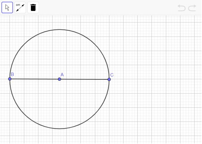 Beregn Omkredsen ved at måle diameteren Tryk Enter for at starte aktiviteten