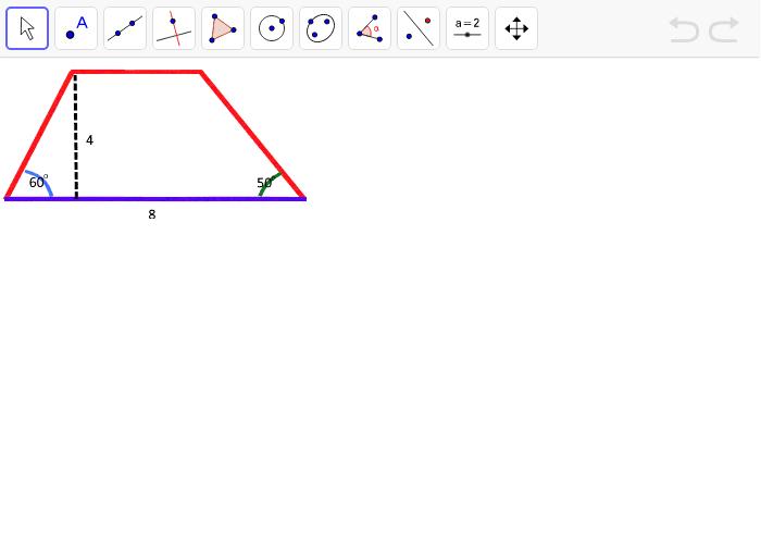 Konstruere følgende trapez