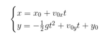 la seconda equazione rappresenta la legge oraria del moto del proiettile lungo la verticale che rappresenta in funzione del tempo l'equazione della parabola.