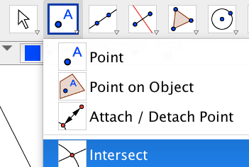 Mark the circumcenter by finding the intersection of the perpendicular bisectors.