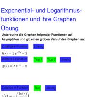 Exponential- und Logarithmusfunktionen und ihre Graphen Übung