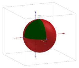 area de triángulo esférico