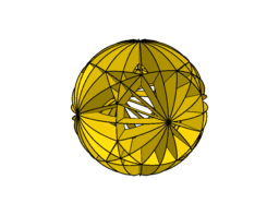 Spherical model - truncated cube