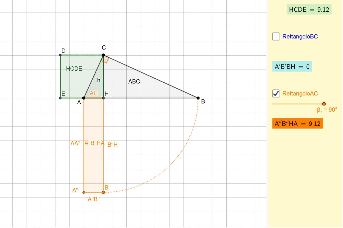 Seleziona il rettangolo e cambia l'angolo per vederne la costruzione. Premi Invio per avviare l'attività