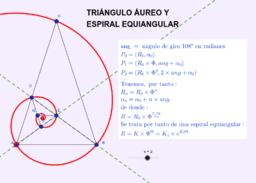 Triángulos áureos y su espiral logarítmica