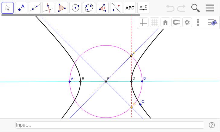 焦点ABを動かしてみよう。 ワークシートを始めるにはEnter キーを押してください。