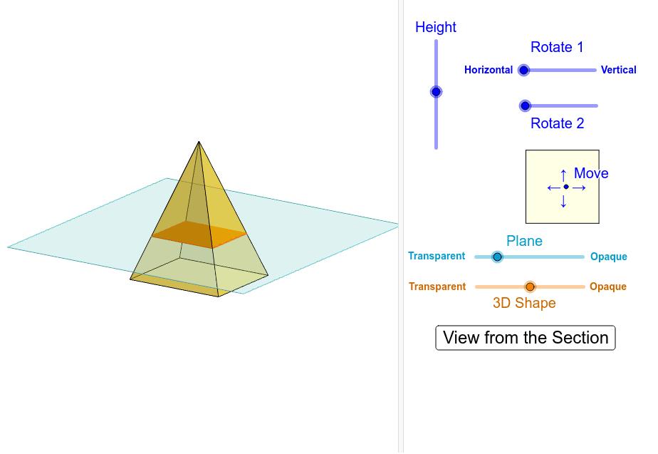 Cross-Section of Rectangular Pyramid Interactive