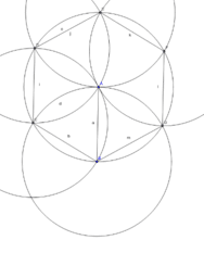 Hexagon inscribed in a Circle