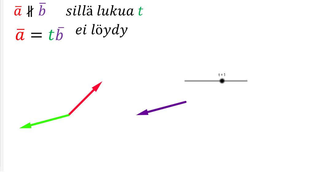 Erisuuntaiset vektorit