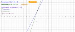 Menyelesaikan Persamaan Linear Serentak